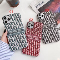 Christ Dior Style Fabric Phone Case Cover For iPhone