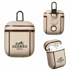 Hermes AirPods 2 / 1 Case Charging Protective Cover Beige