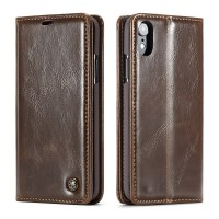 iPhone Leather Wallet Stand Case Brown