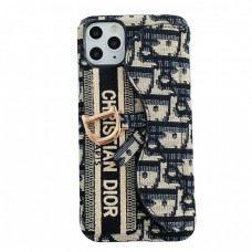 Dior Fabric iPhone Card Case Back Cover