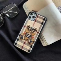 Burberry iPhone 11 12 Pro Max Case Bear Cover