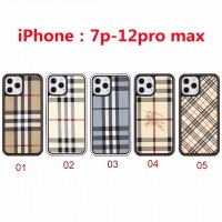 Burberry iPhone 7P To 12 Pro Max Case Hard Cover