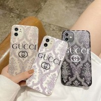 Gucci iPhone 11 12 Pro max Paste and painted Case Back Cover