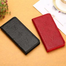 Genuine Leather Louis Vu iPhone Wallet Leather Case