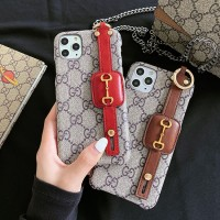 Gucci iPhone Hand Strap Case Back Cover
