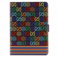 GG iPad Case Wallet Stand Leather Cover Psychedelic