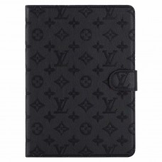 Designer iPad  Leather Case Embossing Stand Cover Black