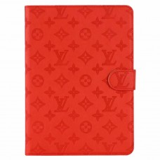 Designer iPad Leather Case Embossing Stand Cover Red