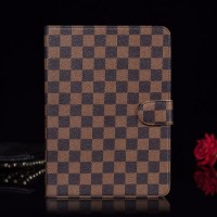 LV iPad Case Wallet Stand Leather Cover Canvas