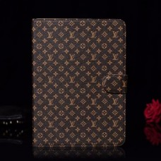 LV iPad Case Wallet Stand Leather Cover Brown
