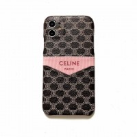 2020 Celine Style iPhone Case Cover Pink Label