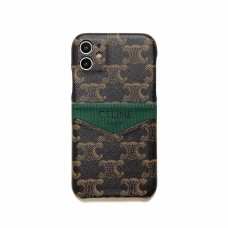 Celine Style iPhone Case Cover Green Label