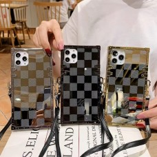 Electroplated Damier iPhone Eye Trunk Case Mirror Cover