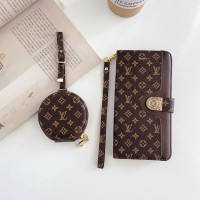 Classic LV Style iPhone Wallet Case AirPods Bag Canvas