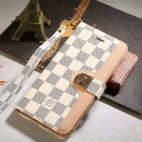 Luxury Louis Azur Leather iPhone Wallet Case Stand Cover