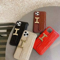 Hermes iPhone Case Credit Card Stand Cover