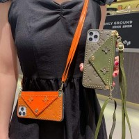 LV iPhone Skin Case Card Cover With Band